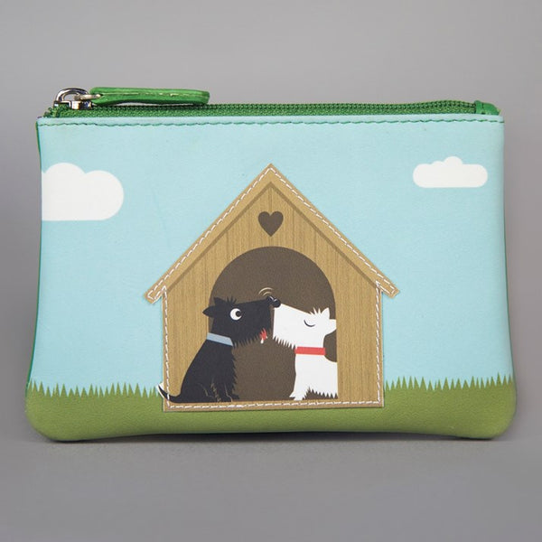 'Puppy Love' Genuine Leather Zip Purse