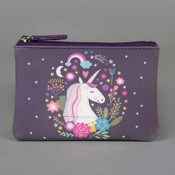 'Sweet Dream Unicorn' Leather Zip Purse