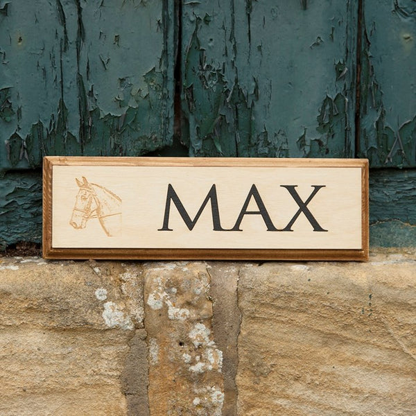 Bespoke Wooden Stable Signs