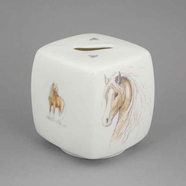 Hearts & Ponies Bone China Money Box