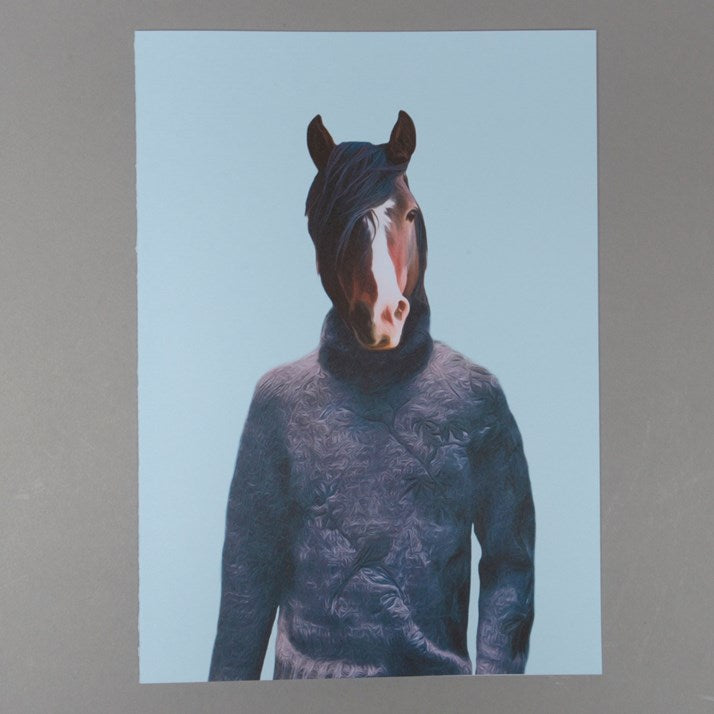 Bay Art Horse Greetings Card