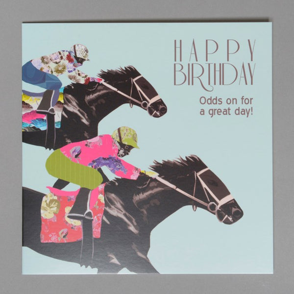Horse Racing Birthday Card