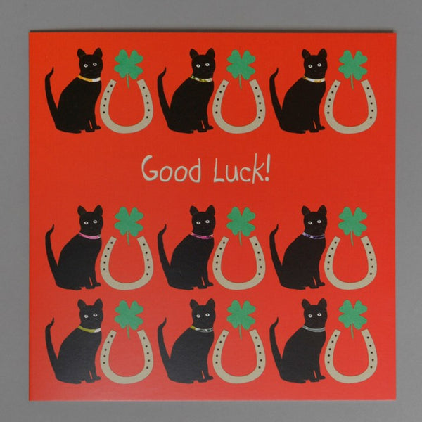 Lucky Horseshoe Good Luck Card