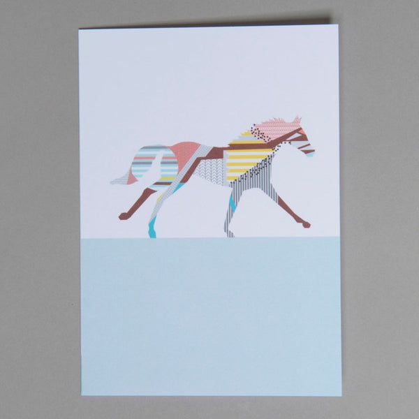 Lucy Alice Designs Horse Greetings Card