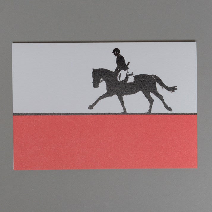 Red and white Showjumping Greeting Card