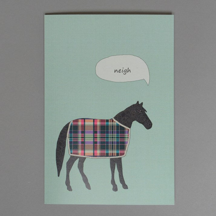 A Horse Says Neigh Card