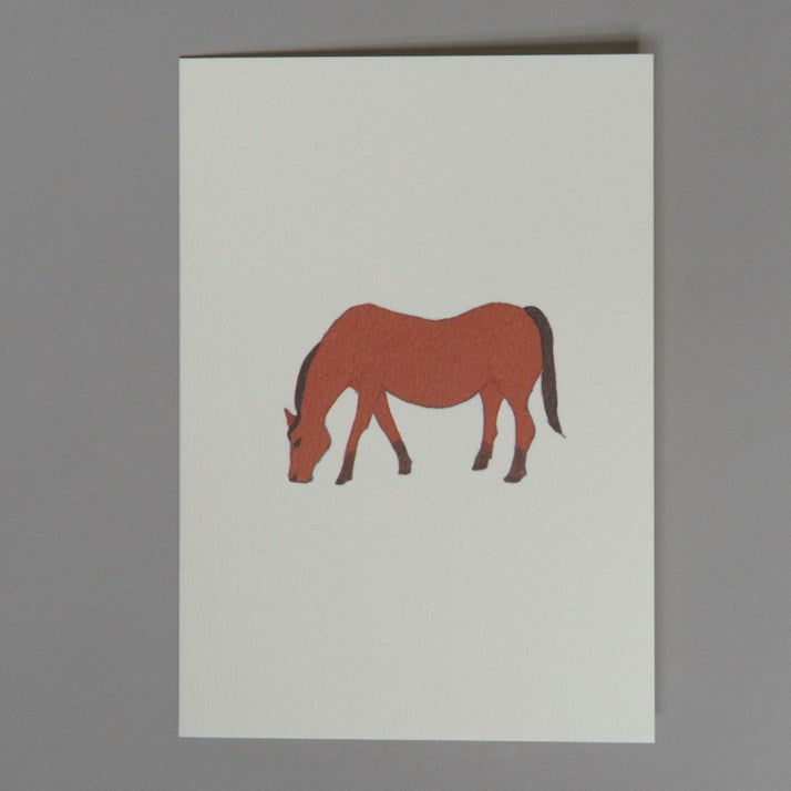 Bay Horse Hand-Made Greetings Card