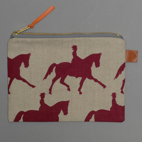 Natural Linen Dressage Rider Make-Up Bag