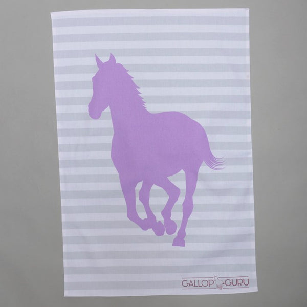 Purple Horse Tea Towel