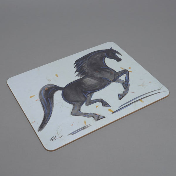 Wooden backed Black Stallion Chopping Board