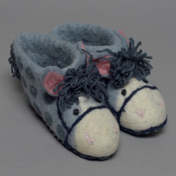 Adult Felt Pony Slippers