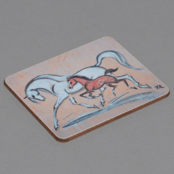 Mare and Foal Horse Drinks Coaster