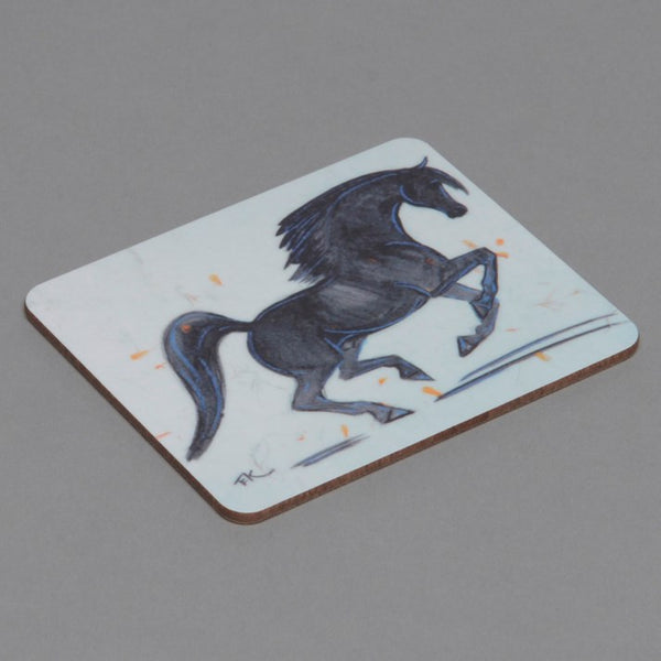 Black Stallion Horse Drinks Coaster