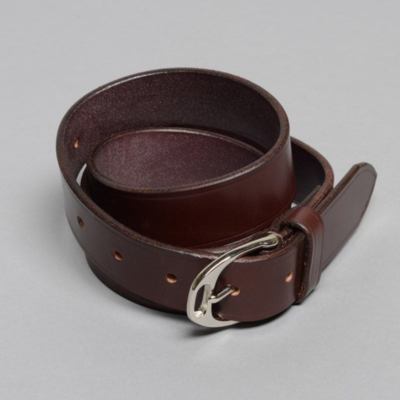 Havana English Leather Stirrup Buckle Belt