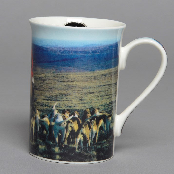 Hounds and Huntmaster Bone China Mug