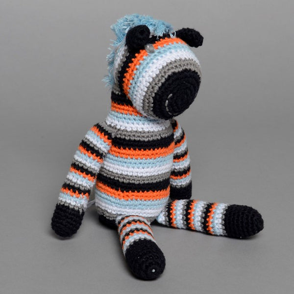 Hand Crocheted Stripy Zebra