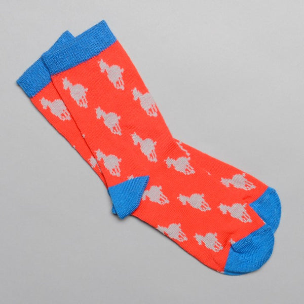 Red and Blue Cotton Kids' Horse Socks