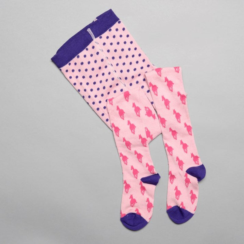 Pink & Purple Horse Tights