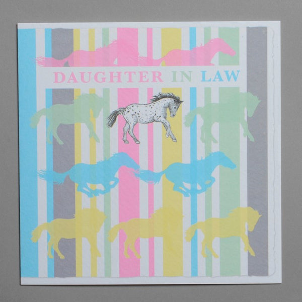 Daughter In Law Horses Greeting Card