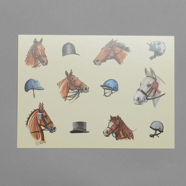 Yellow Horse Head Note Cards
