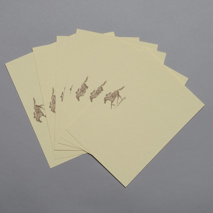 Sepia Print Horse Note Cards