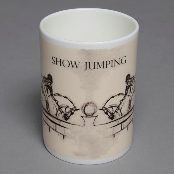 Bone China Showjumping Mug