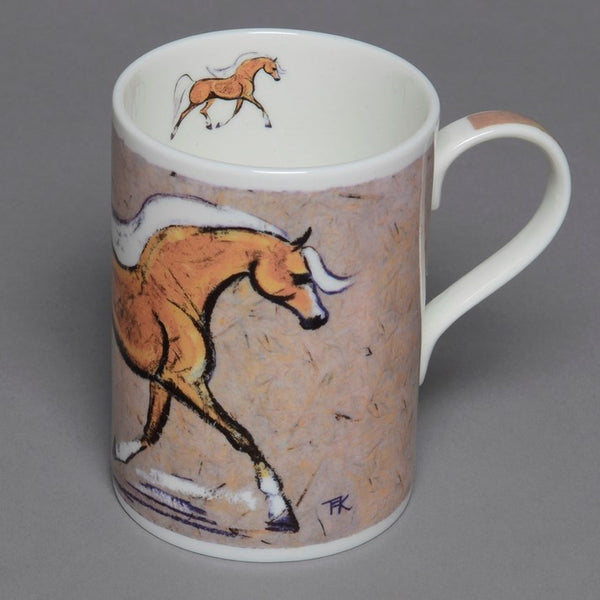 Bone China Palomino Horse Mug
