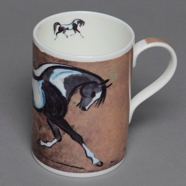 Bone China Piebald Horse Mug