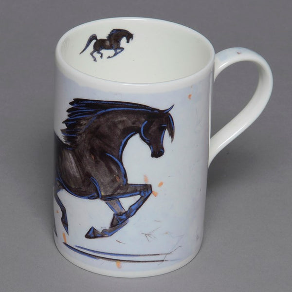 Bone China Black Stallion Mug