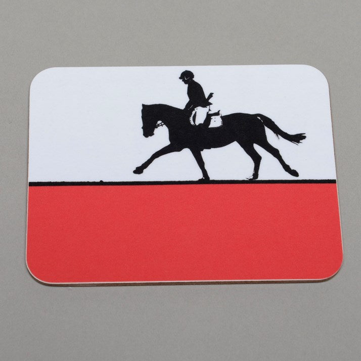 Wooden backed Showjumping Melamine Coaster