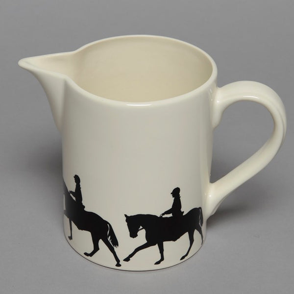 Ceramic Jug with Dressage & Rider print round the base