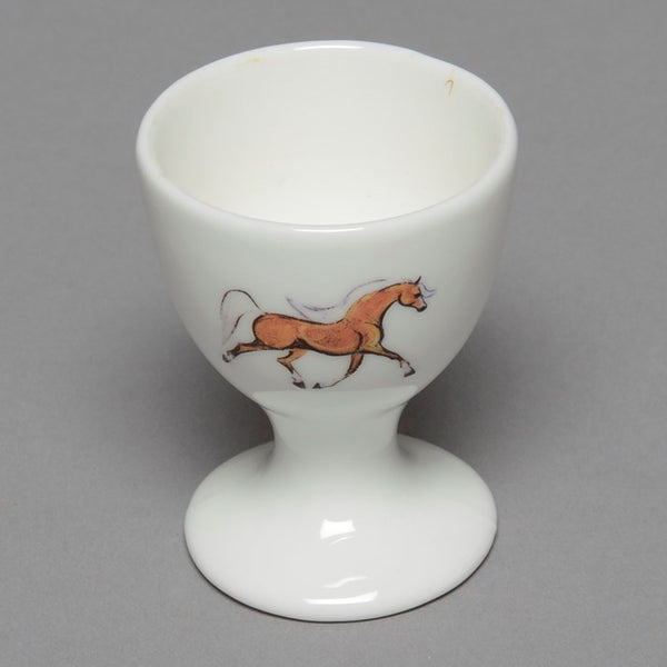 Bone China Palomino Horse Egg Cup
