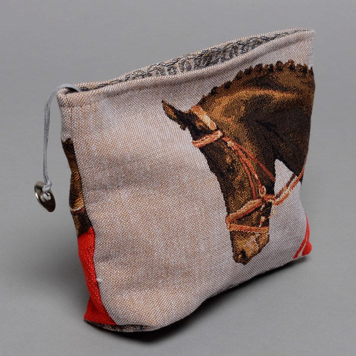 Horse Tapestry Make-Up Bag