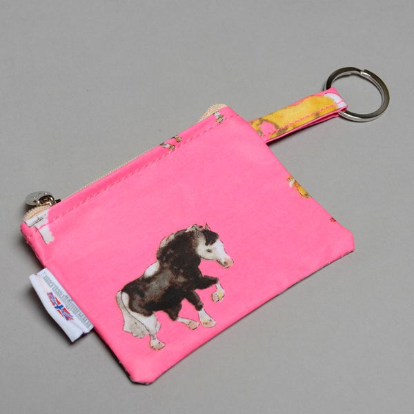 Pink Horsies Purse with Keyring Pony Gift