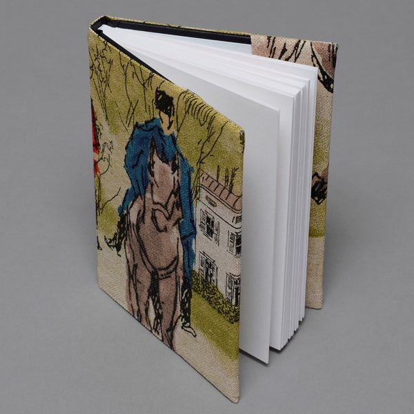 Hand-Made Hunting Print Notebook with blank pages inside