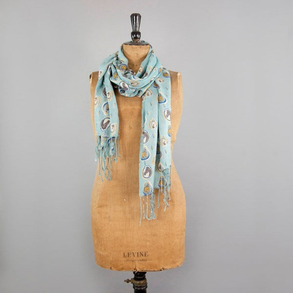 Duck Egg Blue Horse Portraits Scarf