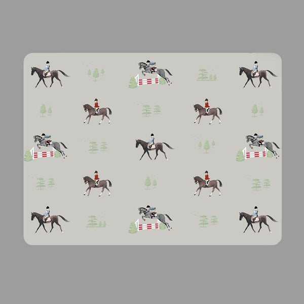 Set of 4 Horses Place Mats