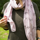 Wild Horses Scarf Faded Pink/Grey