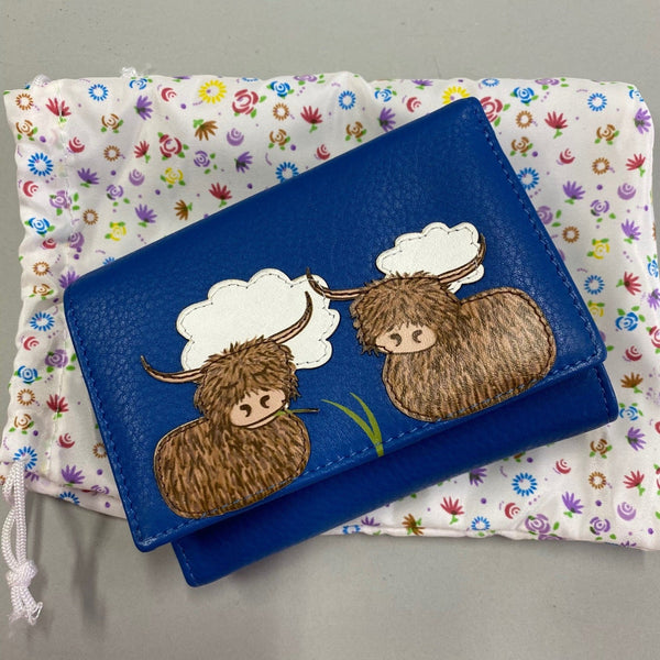 Highland Cow Leather Purse