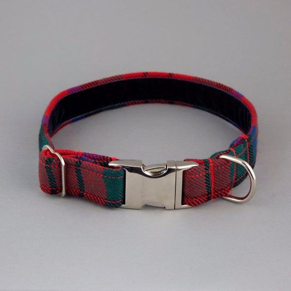 Red Tartan Dog Collar