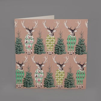 Reindeer-in-Onesies Christmas Card Pack