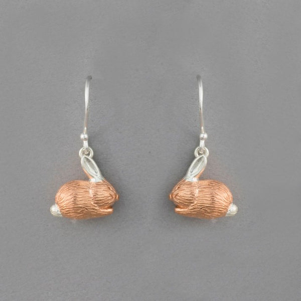 Sterling Silver & Rose Gold Plate Benjamin Bunny Earrings