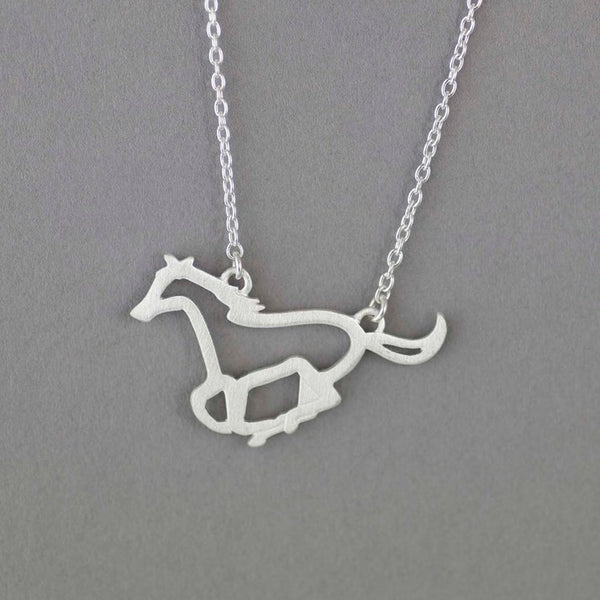 Sterling Silver Horse Outline Pendant