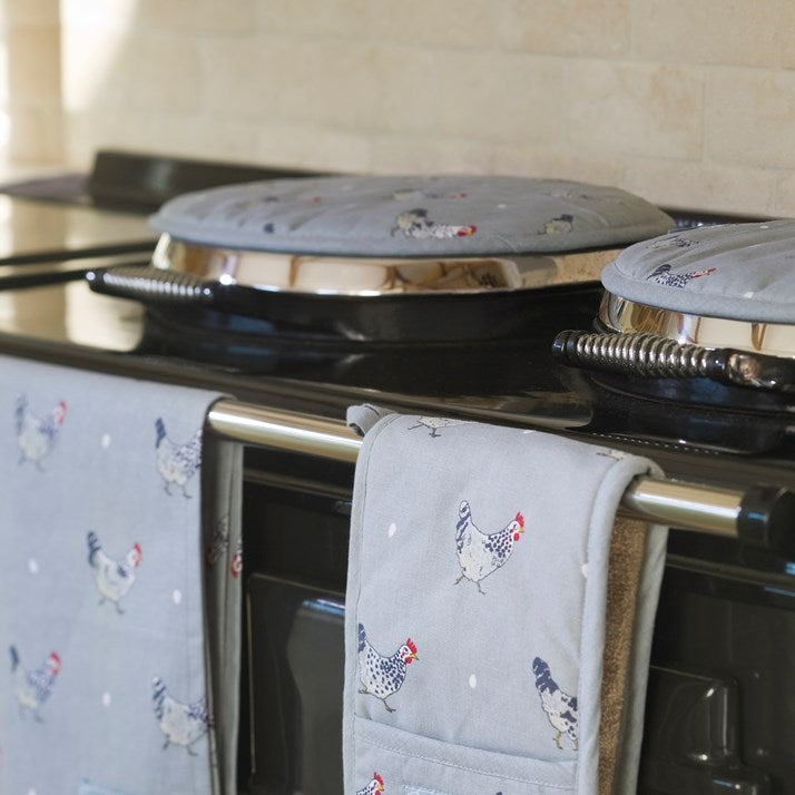 Grey Chicken Aga Lid Protectors
