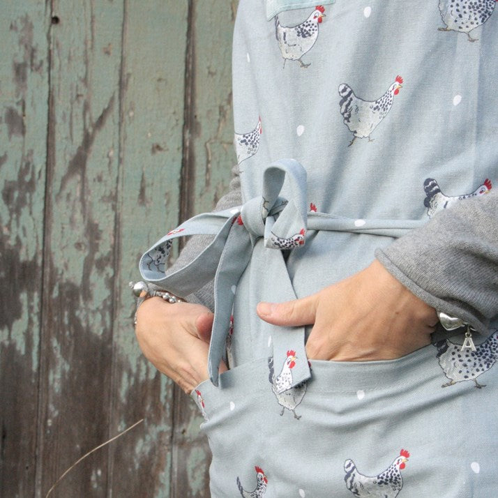 Grey Chicken Apron