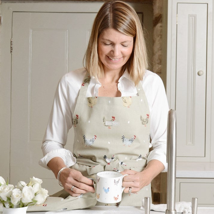 Stone Coloured Sophie Allport Chicken Apron