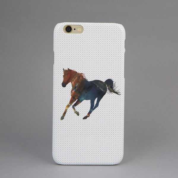 Single Horse Spotty Phone Case