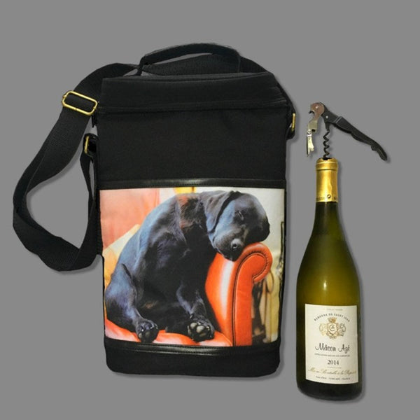 Sleeping Labrador Insulated Wine Bag