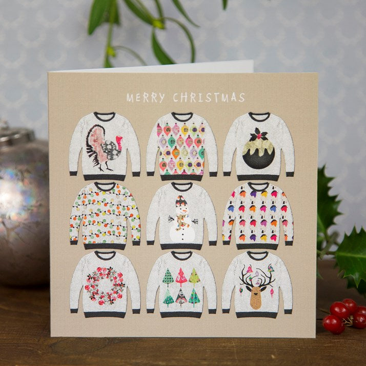 Merry Christmas Jumpers Greeting Card