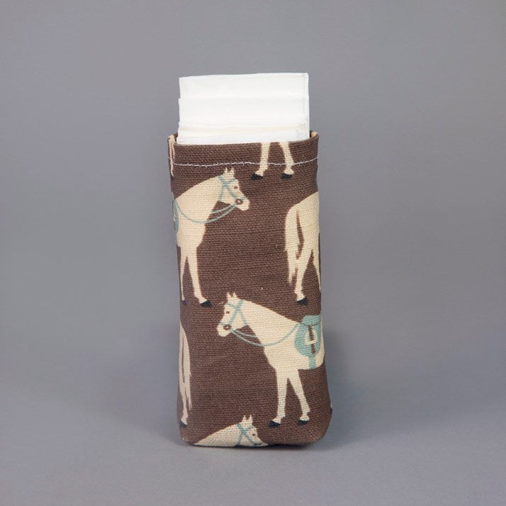 Gifted Horse Tissues Pouch in Clay
